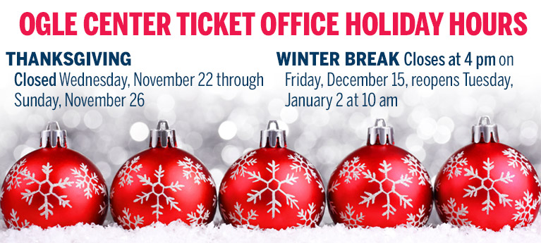 Ticket office holiday hours banner image