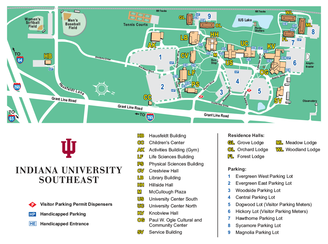 Indiana Campus Map.Ogle Center Maps Directions
